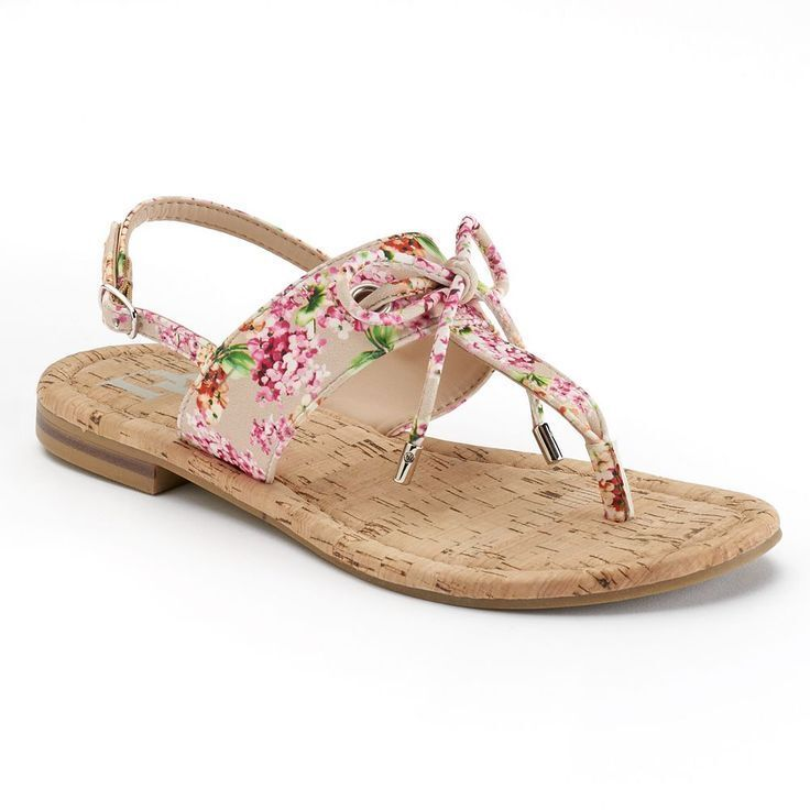 Dana Buchman Floral Size: Tie Flip -Flops Sandals Floral Print Size: Floral XL 11 d63889