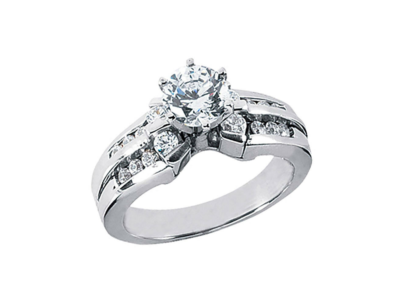 Natural 1.00Ct Round Diamond Engagement Ring Solid 14k pink White Yellow gold