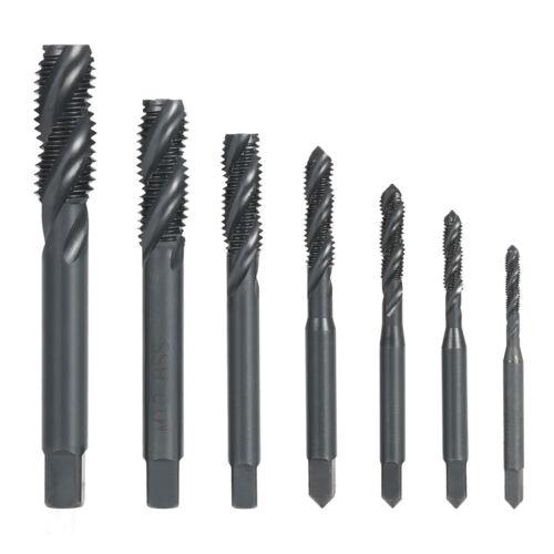 7PCS High Speed Steel M3-M12 Spiral Flute Taps Screw Thread Tap Set Tool Z4O0