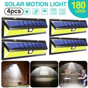 180-LED-Solar-Power-Motion-Sensor-Wall-Light-Outdoor-Garden-Path-Lamp-Waterproof