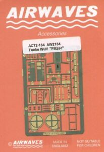 Airwaves 1/72 Focke Wulf TL Jager Flitzer etch for Revell kit # AEC72184