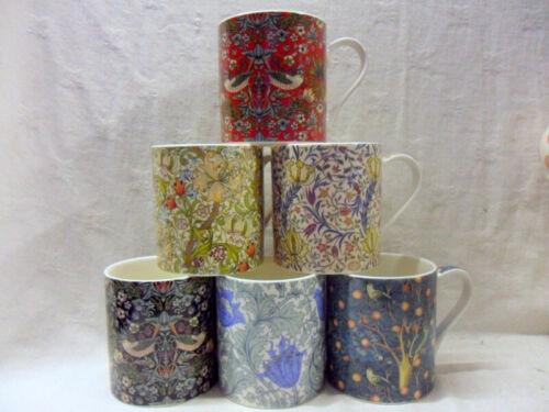 Set of 6 Jumbo mugs in assorted William Morris designs