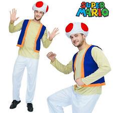 K273 Ladies Mushroom Toad Super Mario Bros Games Fancy Dress Up Costume