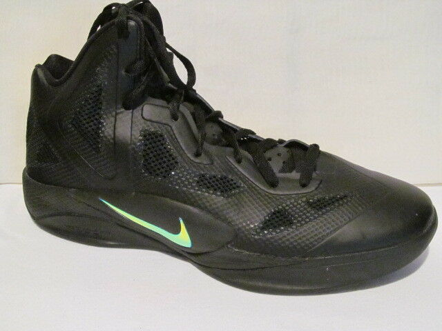 NIKE ZOOM HYPERFUSE 454136 003 Mens Black Basketball Athletic Sneaker shoes SZ 14