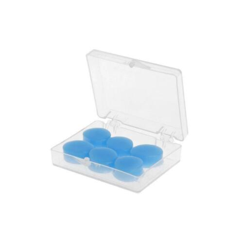 6PCS Earplugs Protective Ear Plugs Silicone Anti-noise Earbud Swimming Water