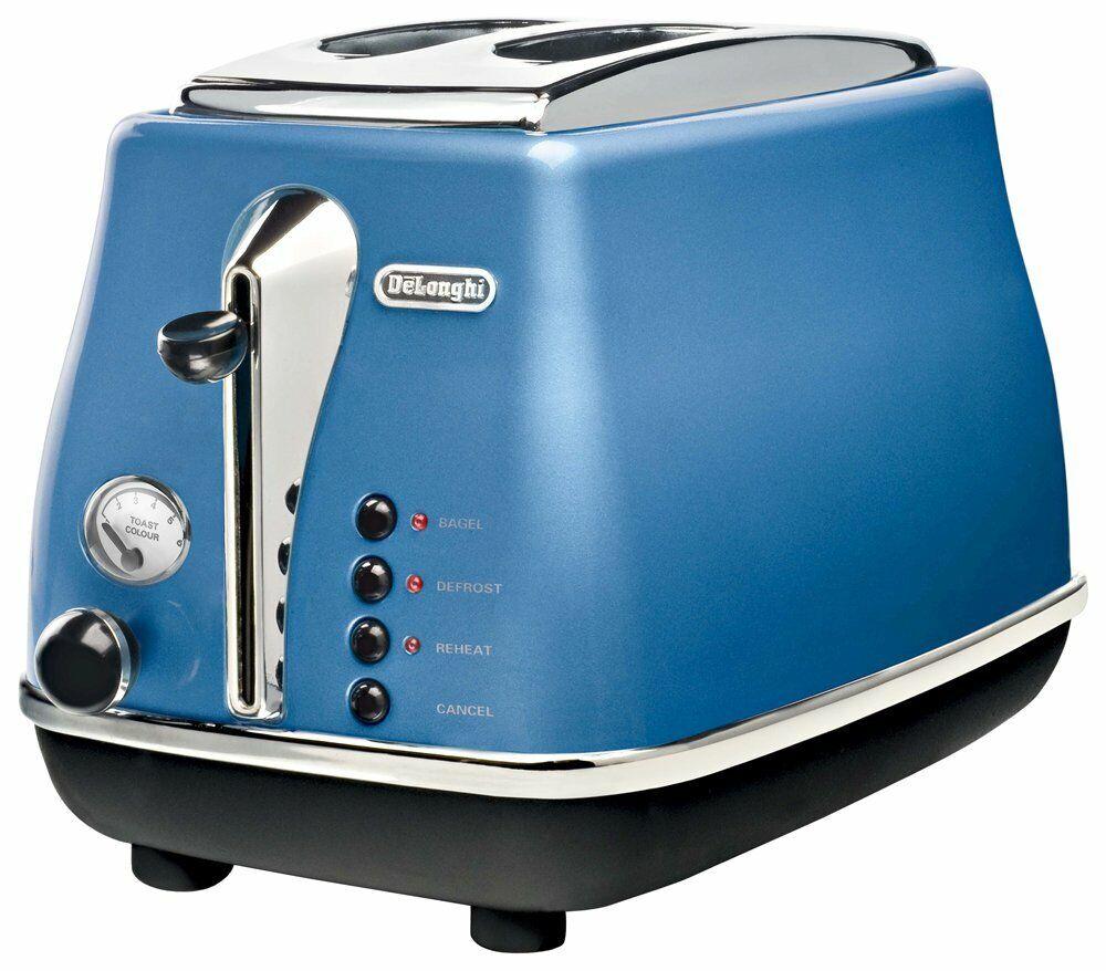 Delonghi Electric Pop-Up Grille-pain bleu ICONA CTO2003J-B AC100V avec suivi NEUF
