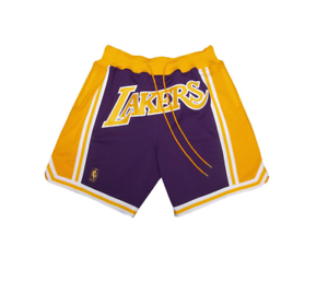 a504c4189f9 Just Don Mitchell   Ness Lakers Shorts LeBron James Purple Yellow ...