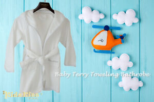 Kidz-Kiss-Baby-Terry-Towel-Hooded-Bath-Robe-Gown-4-Sizes
