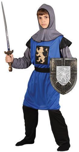 Boys Blue Medieval Knight Fancy Dress St Georges King Arthur Book Week Costume