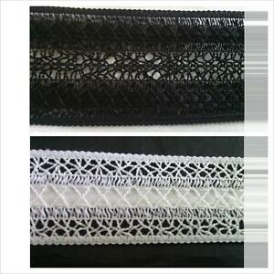 """Wholesale 10 Y Pure White Floral Narrow Scalloped 3D Stretch Lace Trim 1//2/"""" S1-7"""