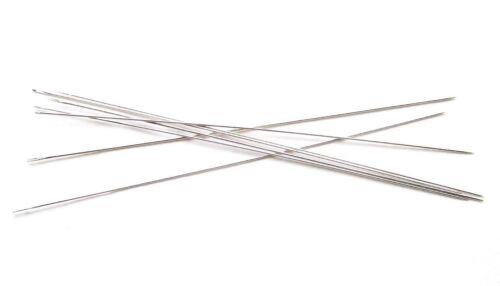 Perlennadeln Fädelnadeln 100mm lang 0,45mm stark 10//25 Stück SERAJOSY