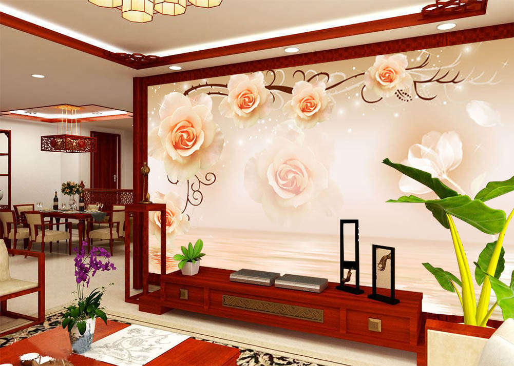 Charming Flowers 3D Full Wall Mural Photo Wallpaper Printing Home Kids Decor