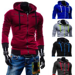 Mens-Hoodies-Coat-Jacket-Winter-Warm-Hooded-Sweatshirt-Outwear-Jumper-Sweater