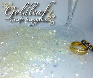 MATRIMONIO DECORAZIONE TAVOLA di dispersione CRYSTAL BEADS Acrilico CORIANDOLI Glitter Mix