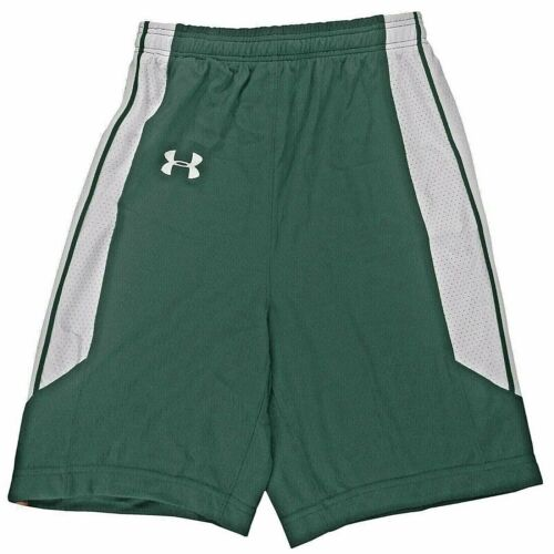 UNDER ARMOUR Athletic Shorts YOUTH L XL GREEN// WHITE 27-29 waist MSRP $49