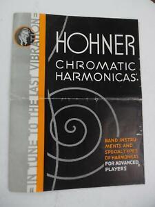 c.1935 Horner Harmonica Catalog Brochure Chromatic Marine Band Tremblo Vintage