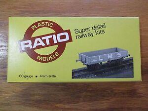 Ratio 5073 L.M.S. 12 Ton Medium Goods Wagon 00 Gauge 4mm scale w Free ship!