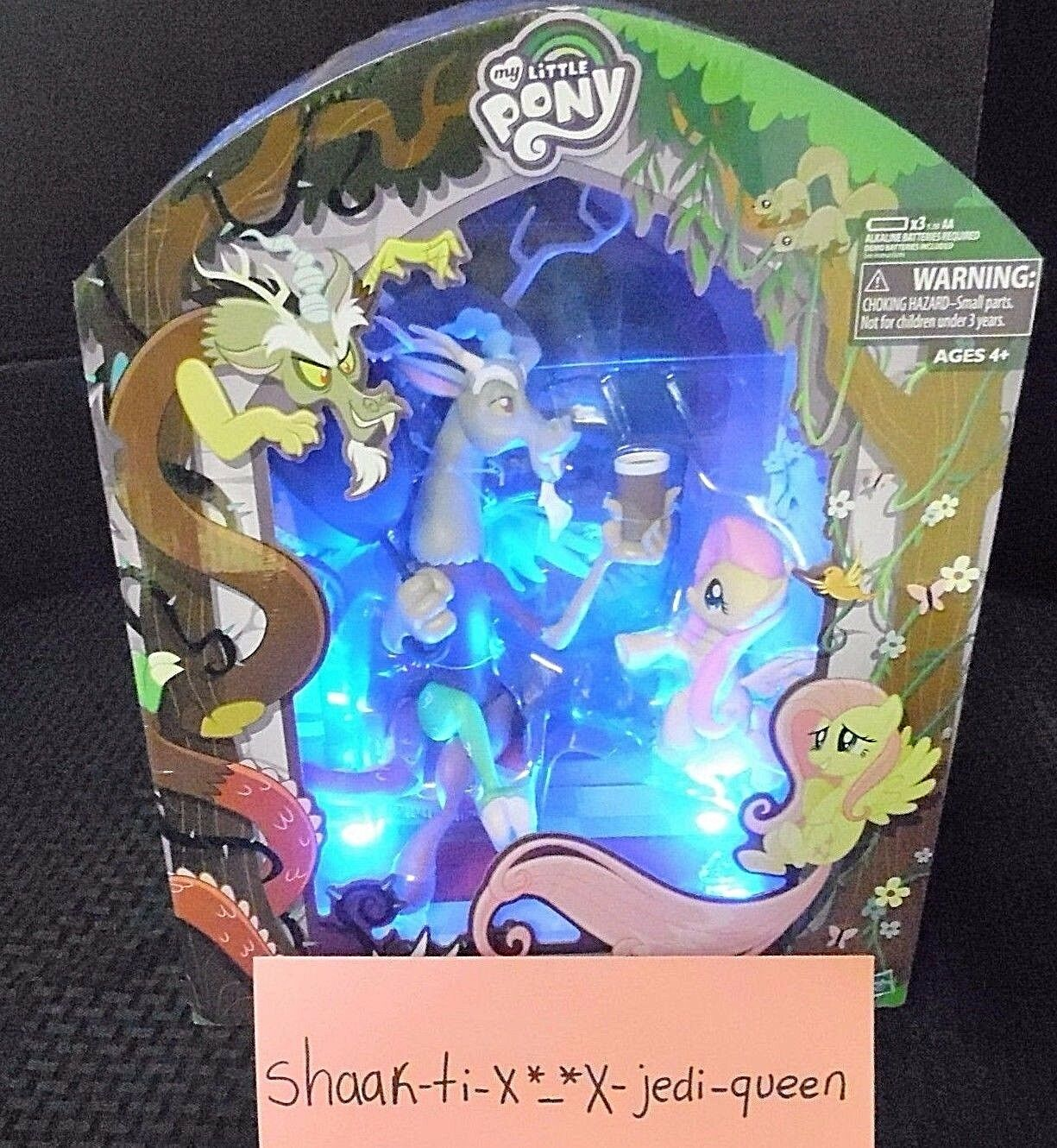 SDCC COMIC CON 2016 HASBRO MY LITTLE PONY DISCORD & FLUTTERSHY + FREE HUGE BAG