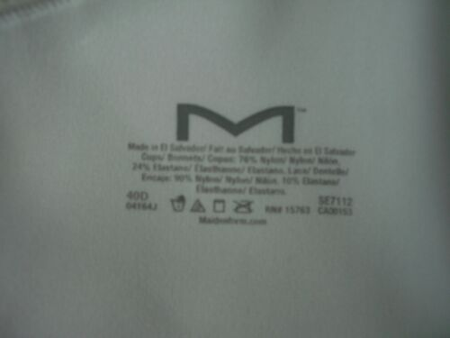 Details about  /Maidenform NWT White T Back Front Clasp Closure Underwire Bra Style SE7112