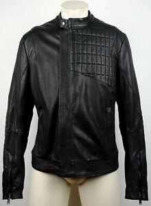 KARL-LAGERFELD-Lederjacke-Leather-Jacket-Herren-Bikerjacke-Gr-50-NEU-mit-ETIKETT