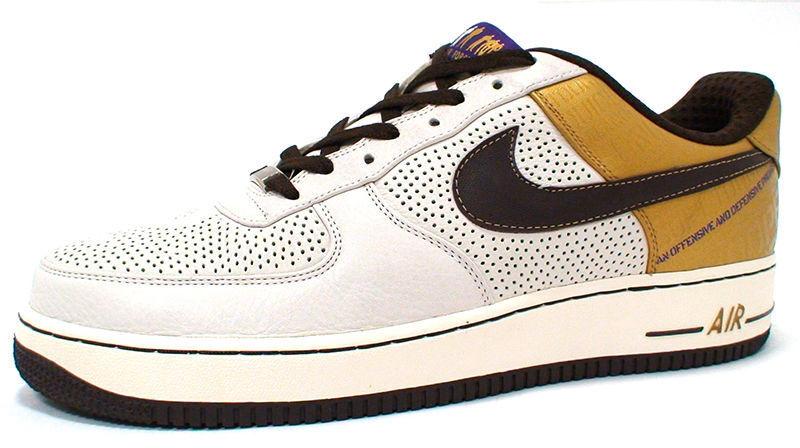Nike AIR FORCE 1 PRM '07(COOPER) 315087-121 'SAIL BAROQUE BROWN-METgold' RARE