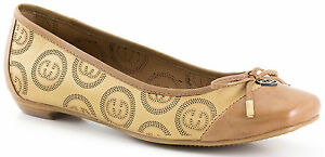 best service 3a15a e20bf Details about Ladies Ballerina Shoes Gerry Weber Isabelle Nut EU Size 36 -  41 (UK 3.5 - 7)