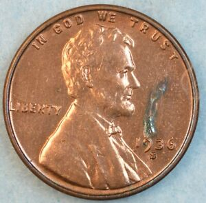 1936-S-Lincoln-Wheat-Cent-UNCIRCULATED-UNC-SAN-FRANCISCO-FAST-S-amp-H-34033