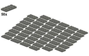 Used-LEGO-Plates-Darkbluishgray-3020-09-2x4-50Stk-Platte-Dunkelgr