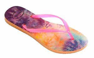 Image is loading Havaianas-Women-s-Flip-Flops-Slim-Tie-Dye-