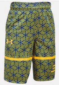 bc0006079c0 Under Armour Boys Stephen Curry SC30 Spear Shorts Size YMD M Yeloow ...