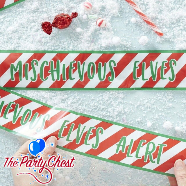 27ft Long Christmas Tape Elf Elves Shelf Banner Garland Xmas Party Decoration 8M