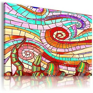 Details About Colorful Abstract Mosaic Canvas Wall Art Picture Large Sizes Ab601