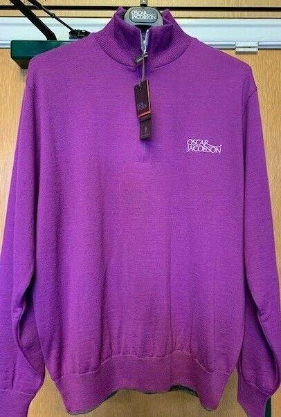 Oscar Jacobson Brett Tour Half Zip L Purple
