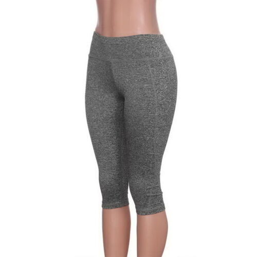 Details about  /Ladies Fashion Stretch Cropped Pants with Pockets Hips Yoga Pants Sweatpants!