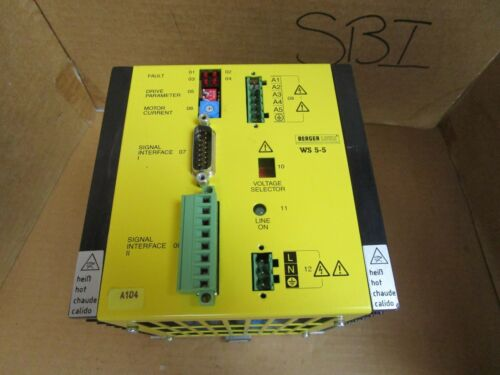 Berger Lahr Stepper Drive WS 5-5.281-00 WS5528100 6465281005 240V 600 VA Used