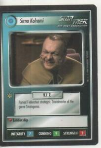 "Star Trek TNG CCG Federation UNCOMMON Card ""Sirna Kolrami"""