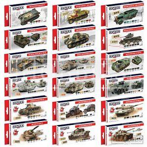 Hataka-Acrylic-Model-Vehicles-Paint-Set-AFV-WW2-Modern-Camo-Weathering-Colours