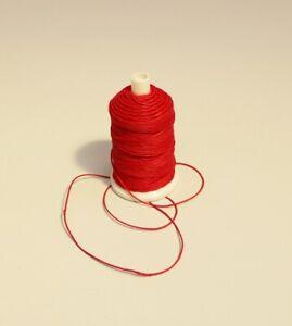 GéNéReuse Crimson Red 6/18 Poli Fil De Lin, 10 M Ou Carte De Carte 20 M, Bobine 120 M-afficher Le Titre D'origine Ni Trop Dur Ni Trop Mou