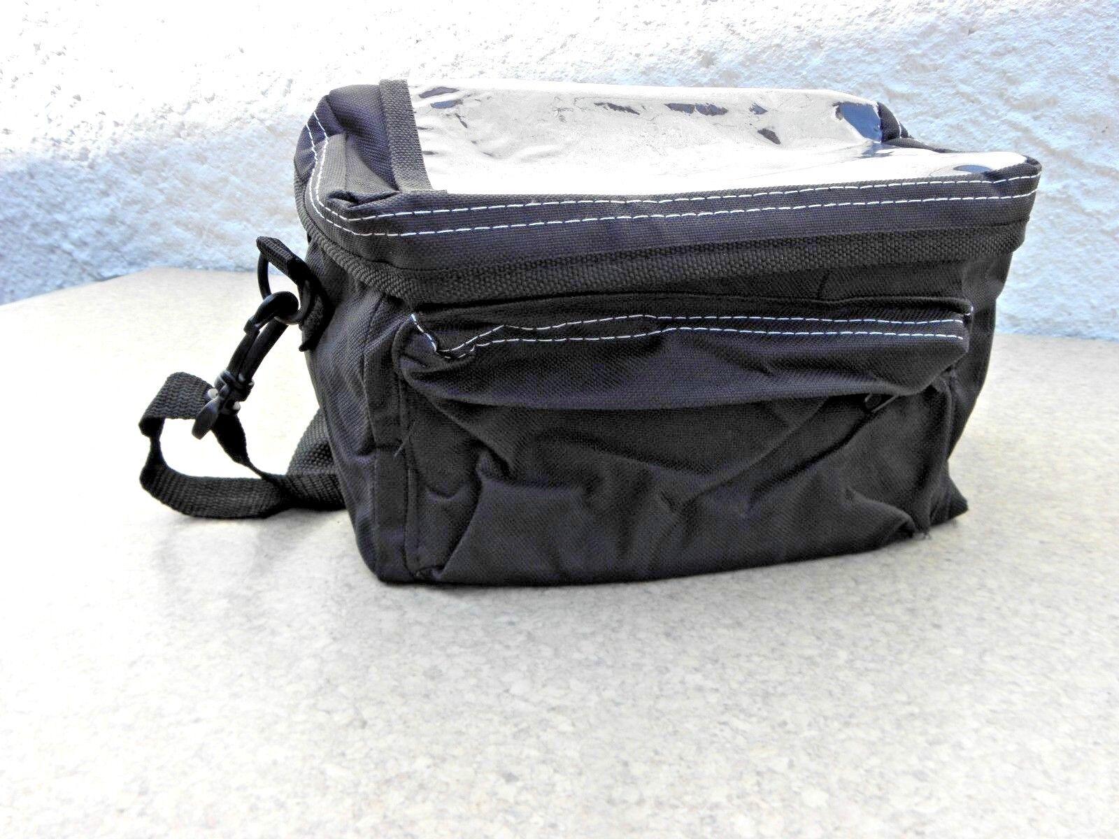 Sacoche de vélo noir avec 3 compartiments Guidon et ceinture Guidon compartiments Sac Sac de transport 03416 063a0b