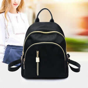Women-Small-Backpack-Travel-Nylon-Handbag-Shoulder-Bag-Black-Gifts-Fashion