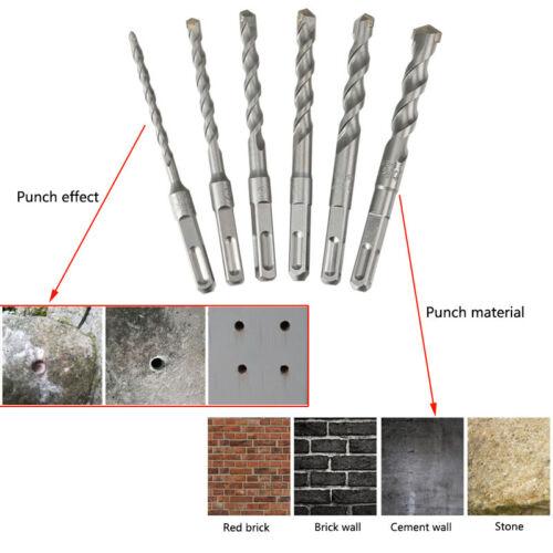 Square Shank Masonry Drill Bit Tungsten Carbide Tip For Stone Concrete Brick