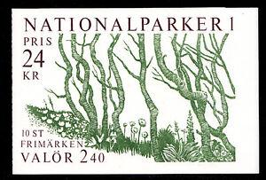 SWEDEN (H398) Scott 1763a, National Parks booklet, VF