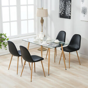 image is loading 5 pcs dining table and 4 eames style - Kitchen Dining Table And Chairs