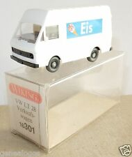 MICRO WIKING HO 1/87 VW VOLKSWAGEN COMBI LT 28 GLACIER GLACES EIS BLANC IN BOX