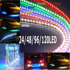 24 48 96 120cm led bande flexible strip etanche xenon feux voiture tuning 12v nf ebay. Black Bedroom Furniture Sets. Home Design Ideas