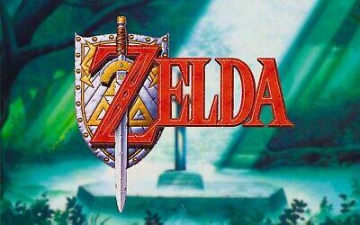 """Zelda Link 24/""""x36/"""" poster print"""