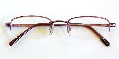 """(2 PACK)Magnivision""""MASON""""Lavender 1/2 Frame Reading Glasses(M14)Choose Strength"""