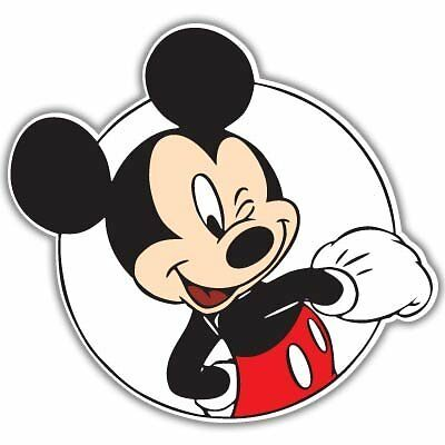 """Mickey Mouse wink Vynil Wall// Auto Car Sticker Decal  10/"""""""