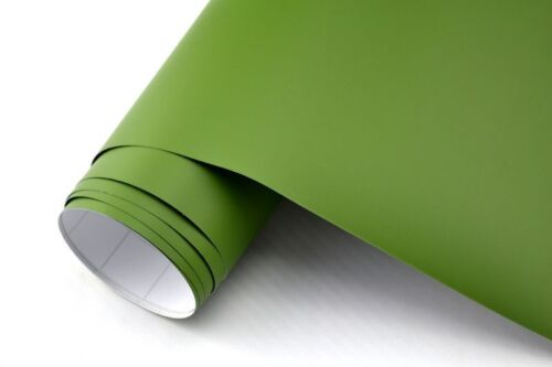5,90 €//m² voiture film Olive Mat 400 x 152 cm 3d Film Adhésif Wrapping bulles mouvement