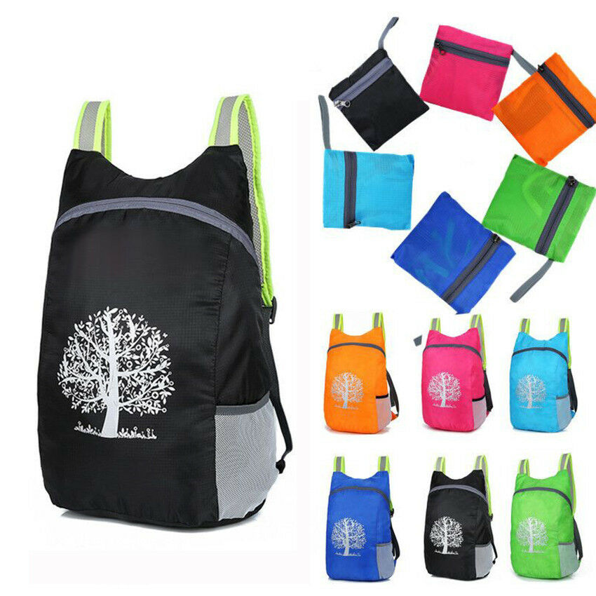 Universal Durable Folding Packable Portable Polyester Travel Hiking Ba... - s l1600